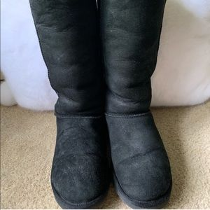 UGG Black tall suede boots